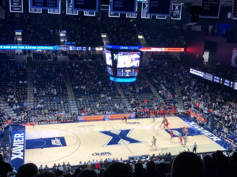Seating view for Cintas Center Section 210 Row N Seat 16
