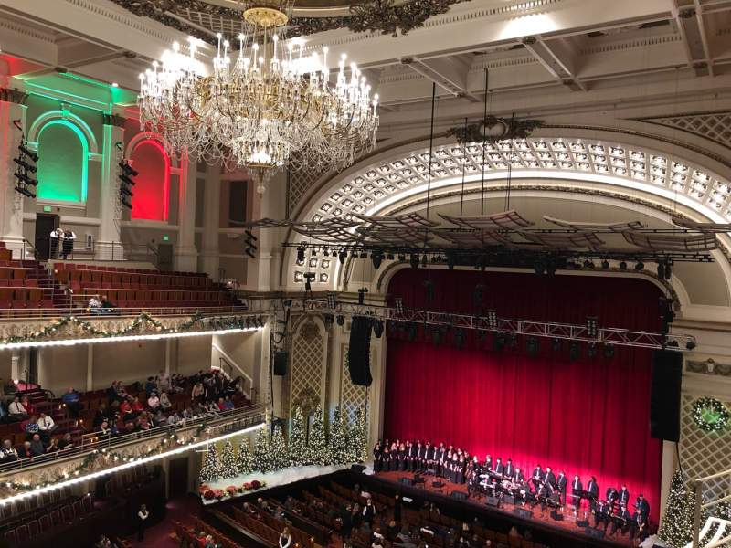 Seating view for Cincinnati Music Hall