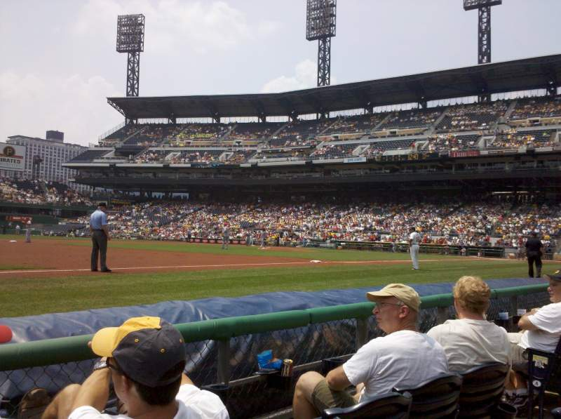Seating view for PNC Park Section 125 Row 1
