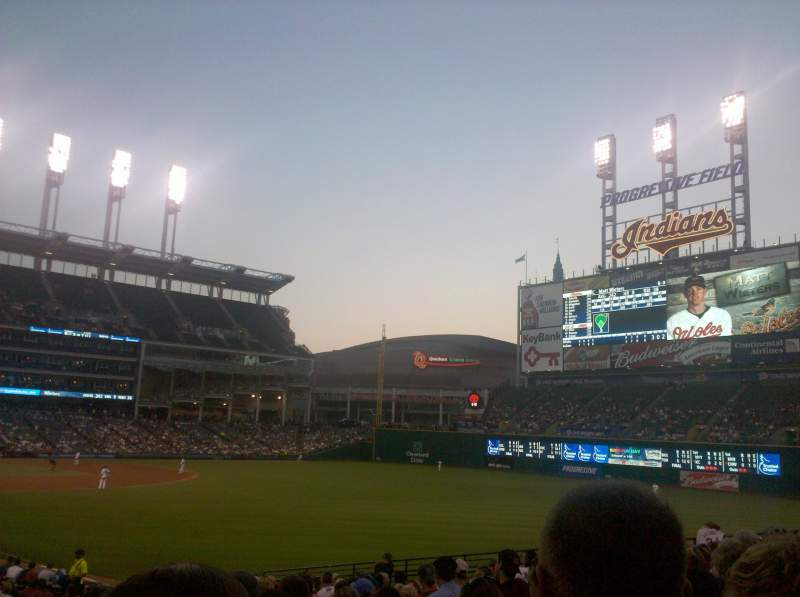 Seating view for Progressive Field Section 117 Seat 2