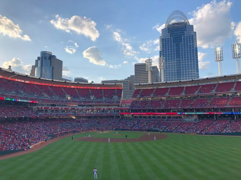 Seating view for Great American Ball Park Section 143 Row W Seat 15