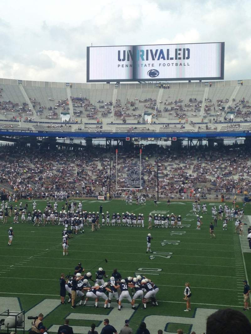 Seating view for Beaver Stadium Section SD Row 25