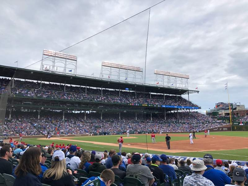 Seating view for Wrigley Field Section 127 Row 1 Seat 15