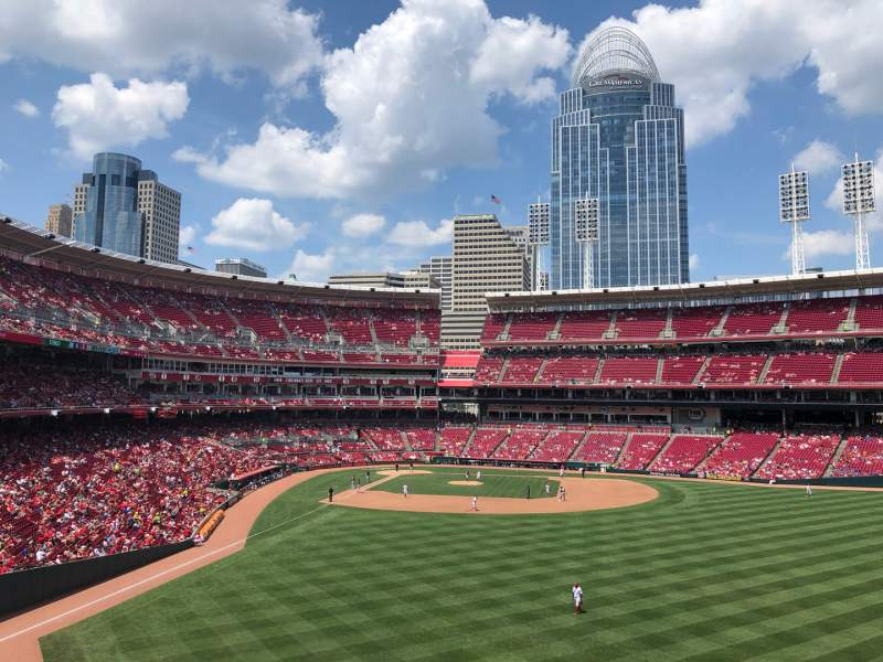 Seating view for Great American Ball Park Section 142 Row Z Seat 25