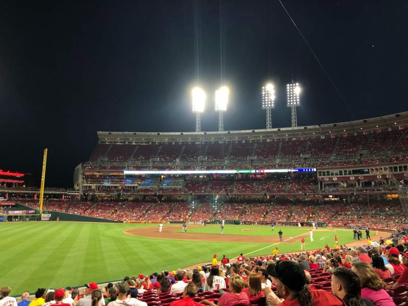 Seating view for Great American Ball Park Section 110 Row EE Seat 12