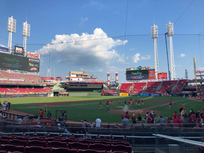 Seating view for Great American Ball Park Section 121 Row T Seat 1