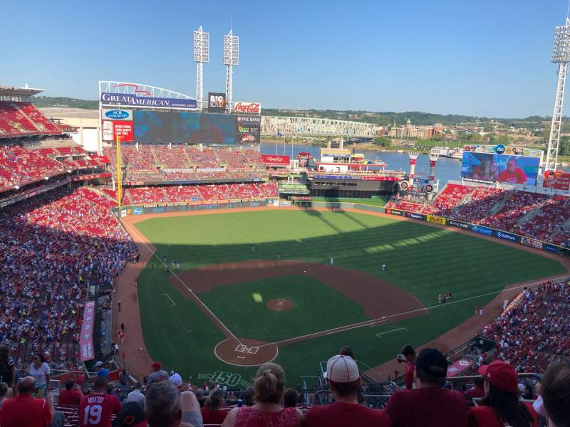 Seating view for Great American Ball Park Section 525 Row P Seat 5
