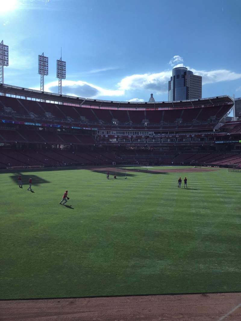 Seating view for Great American Ball Park Section CFPAV Row A Seat 24