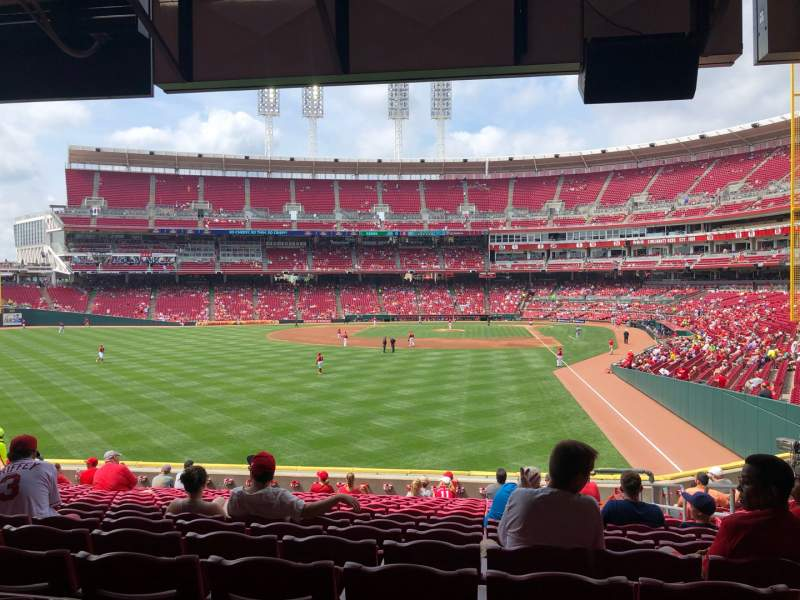 Seating view for Great American Ball Park Section 105 Row P Seat 4