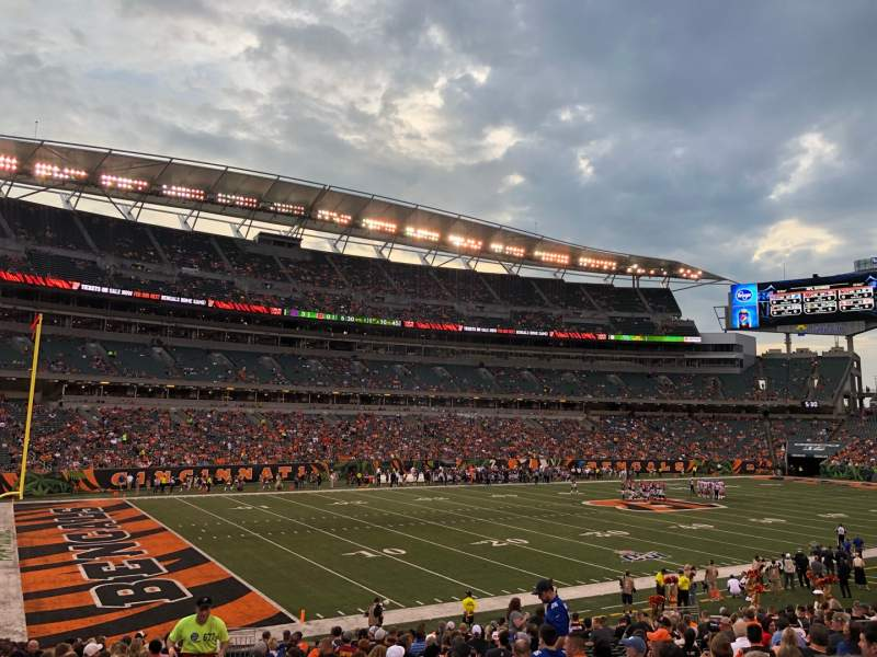 Seating view for Paul Brown Stadium Section 146 Row 23 Seat 23