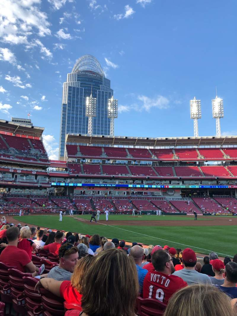 Seating view for Great American Ball Park Section 135 Row I Seat 6