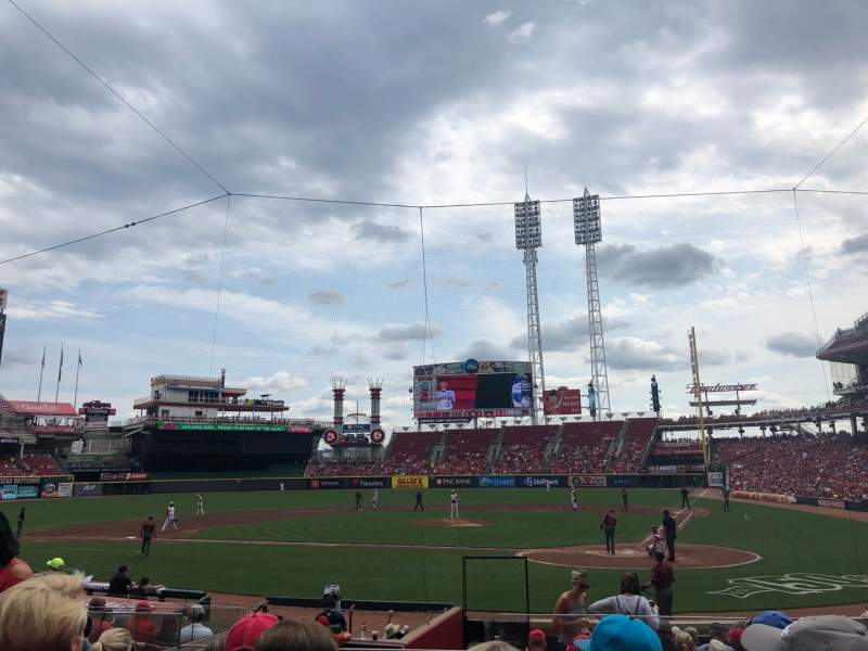 Seating view for Great American Ball Park Section 120 Row R Seat 5