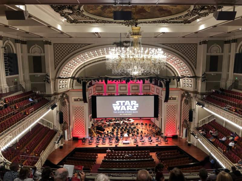 Seating view for Cincinnati Music Hall Section GAL 4 Row K Seat 412