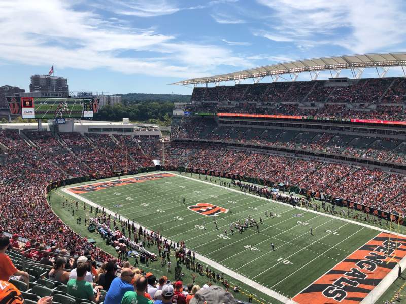 Seating view for Paul Brown Stadium Section 334 Row 12 Seat 10