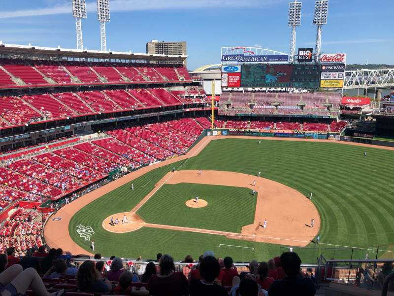 Seating view for Great American Ball Park Section 530 Row F Seat 8