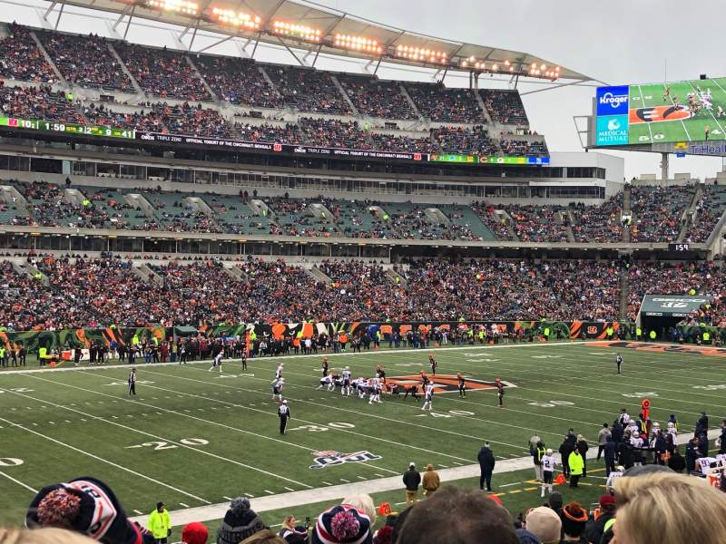Seating view for Paul Brown Stadium Section 146 Row 26 Seat 6