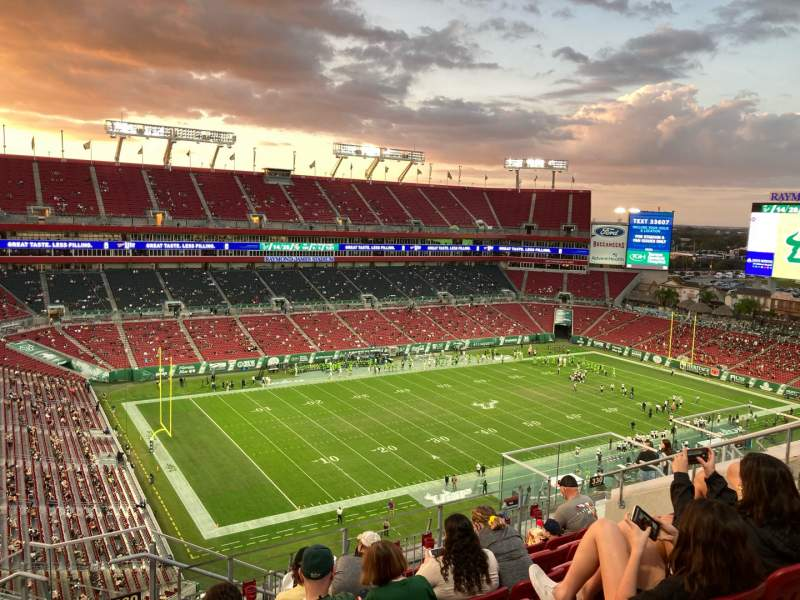 Seating view for Raymond James Stadium Section 330 Row G Seat 16