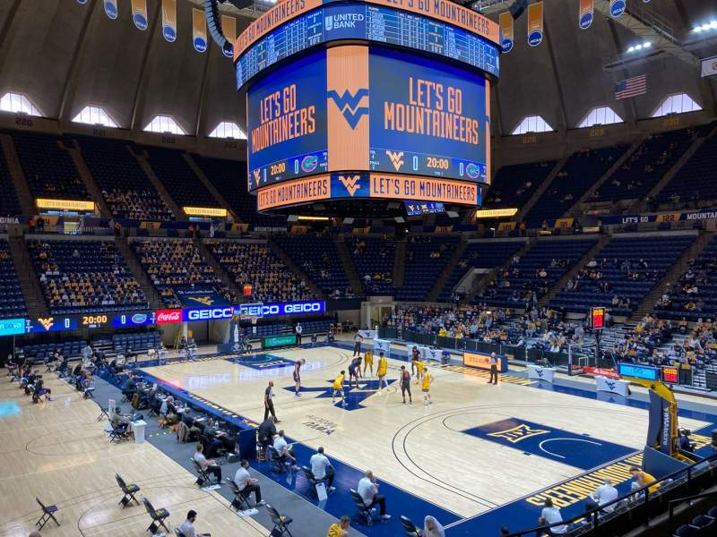 Seating view for WVU Coliseum Section 104 Row H Seat 2