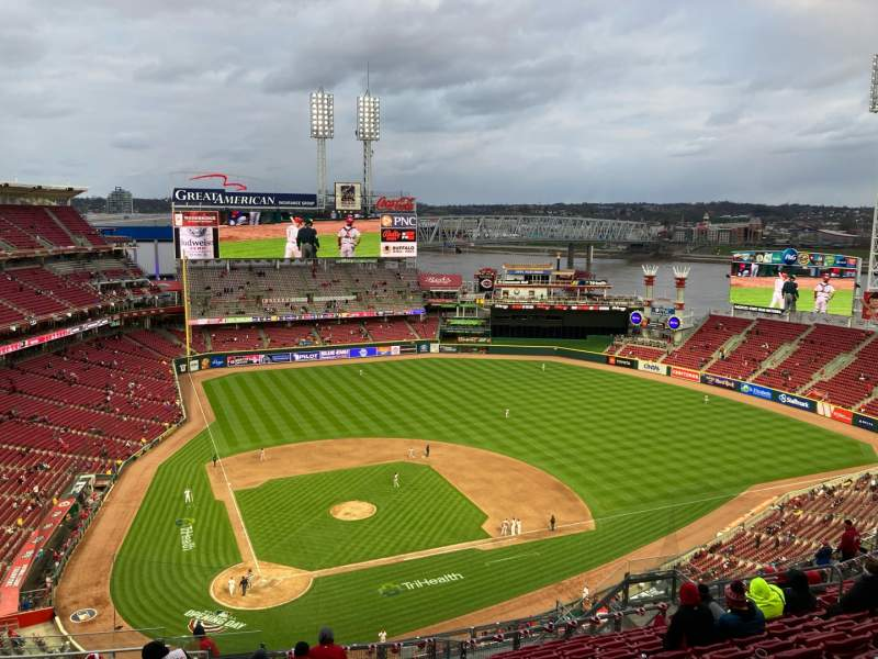Seating view for Great American Ball Park Section 527 Row P Seat 17