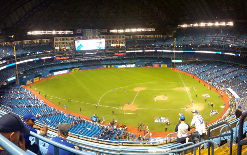 Seating view for Rogers Centre Section 528 Row 7