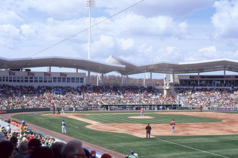 Seating view for JetBlue Park Section 219 Row 7 Seat 21