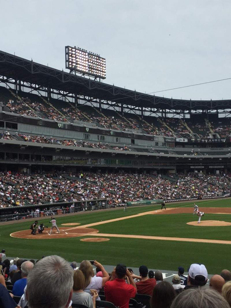 Seating view for Guaranteed Rate Field Section 124 Row 19 Seat 2