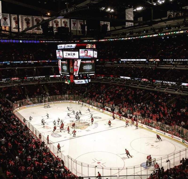 Seating view for United Center Section 312 Row 2