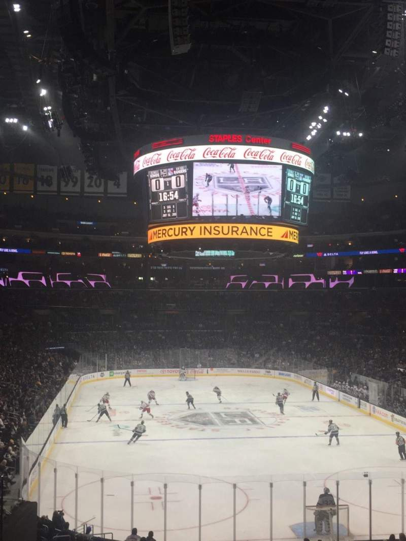 Seating view for Staples Center Section 208 Row 8 Seat 17