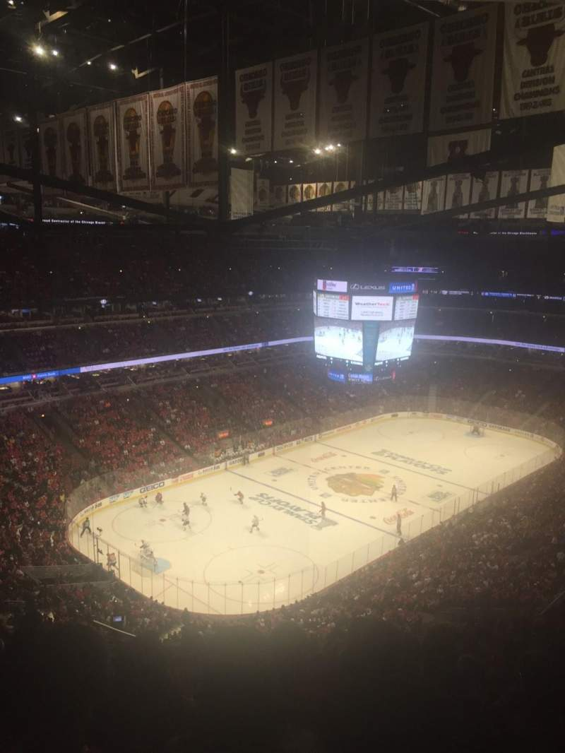 Seating view for United Center Section 322 Row 15 Seat 18