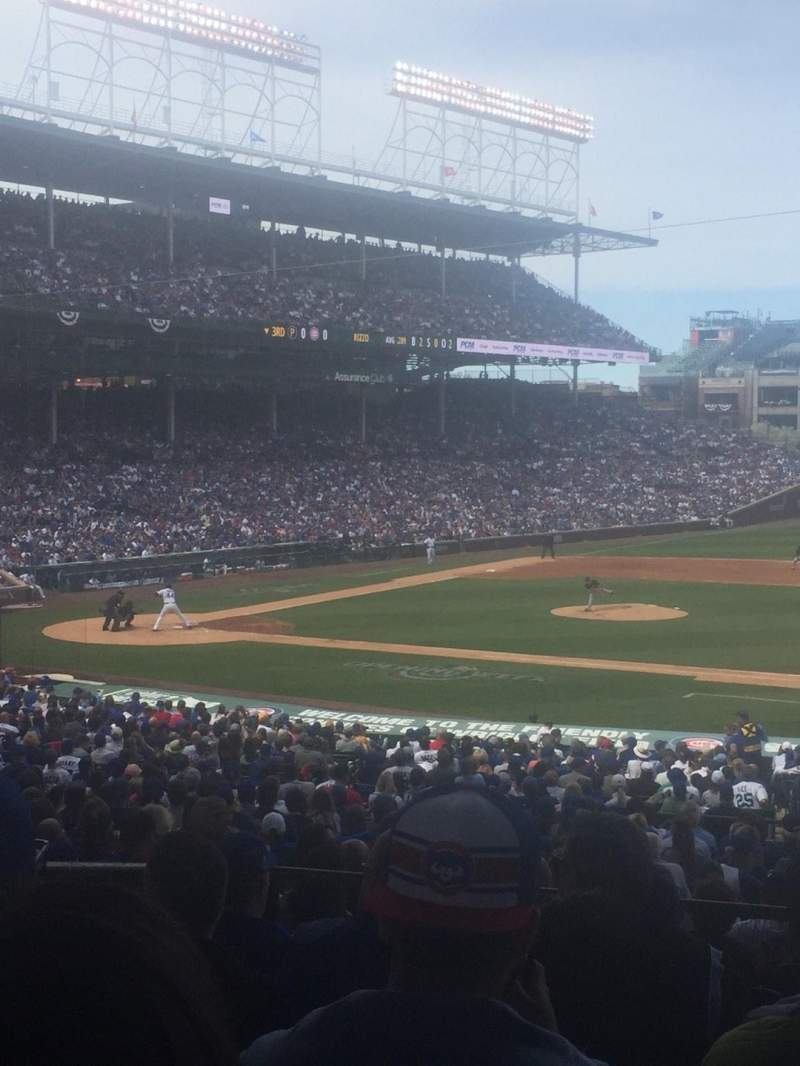 Seating view for Wrigley Field Section 225 Row 7 Seat 17