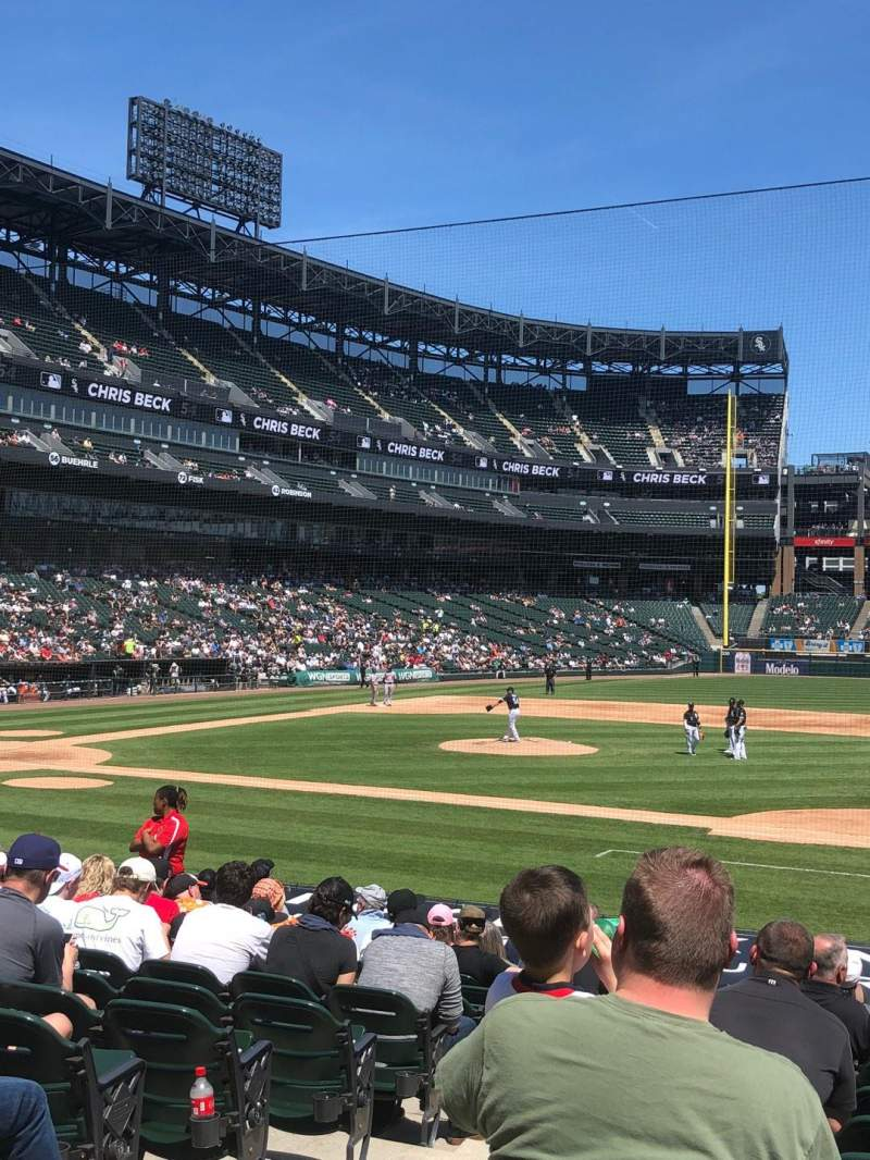 Guaranteed Rate Field, section: 123, row: 17, seat: 9