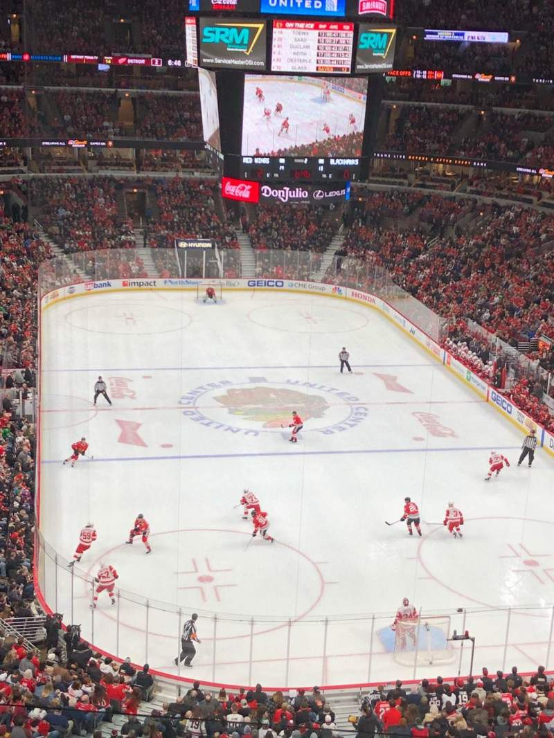 Seating view for United Center Section 310 Row 5 Seat 13