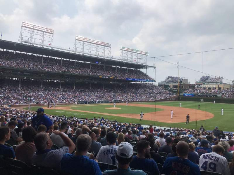 Seating view for Wrigley Field Section 227 Row 1 Seat 11