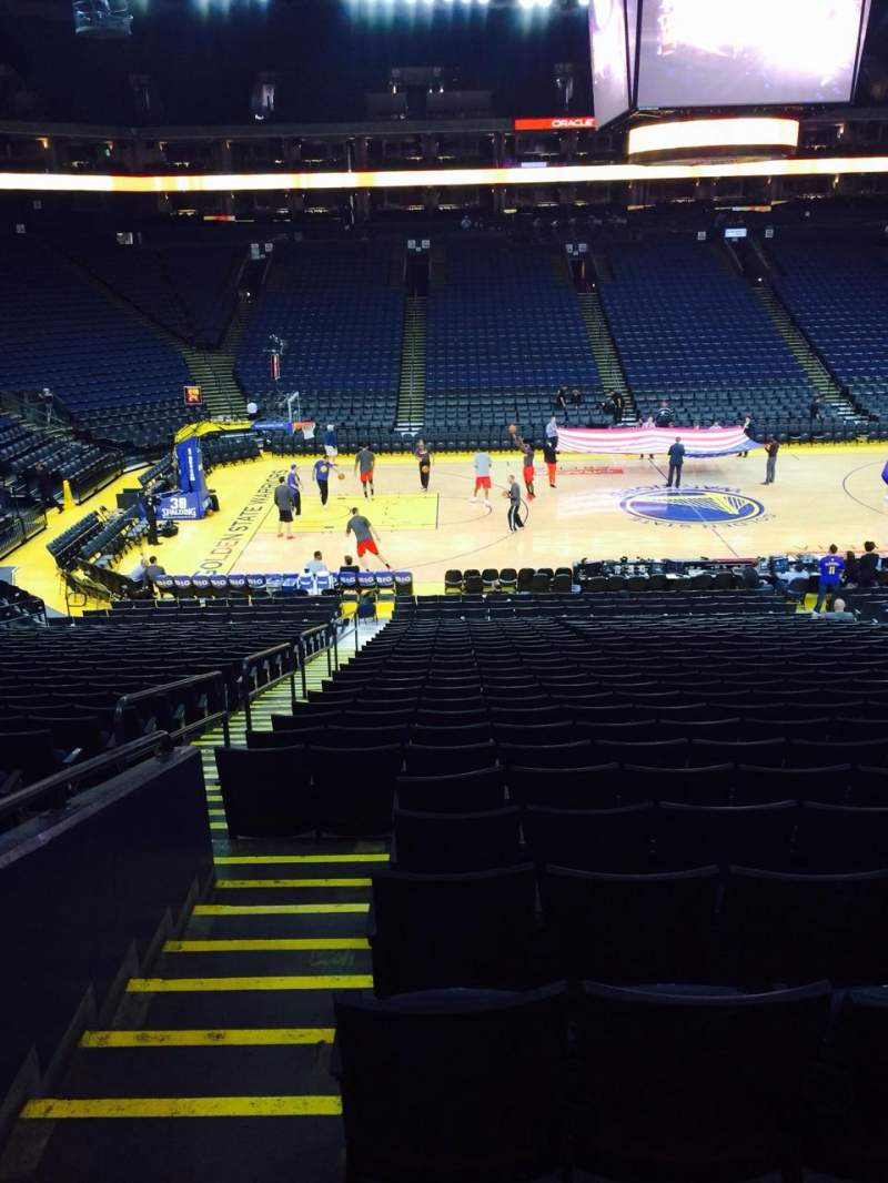 Seating view for Oracle Arena Section 101 Row 23 Seat 12