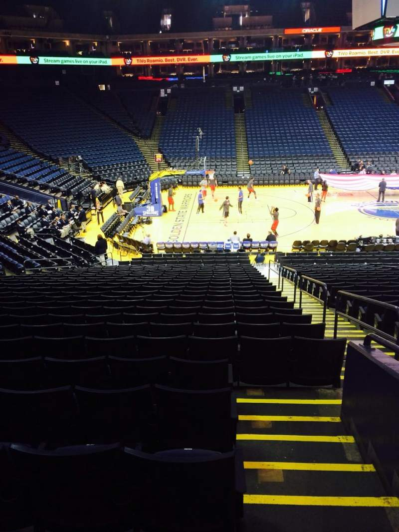 Seating view for Oracle Arena Section 102 Row 22 Seat 3