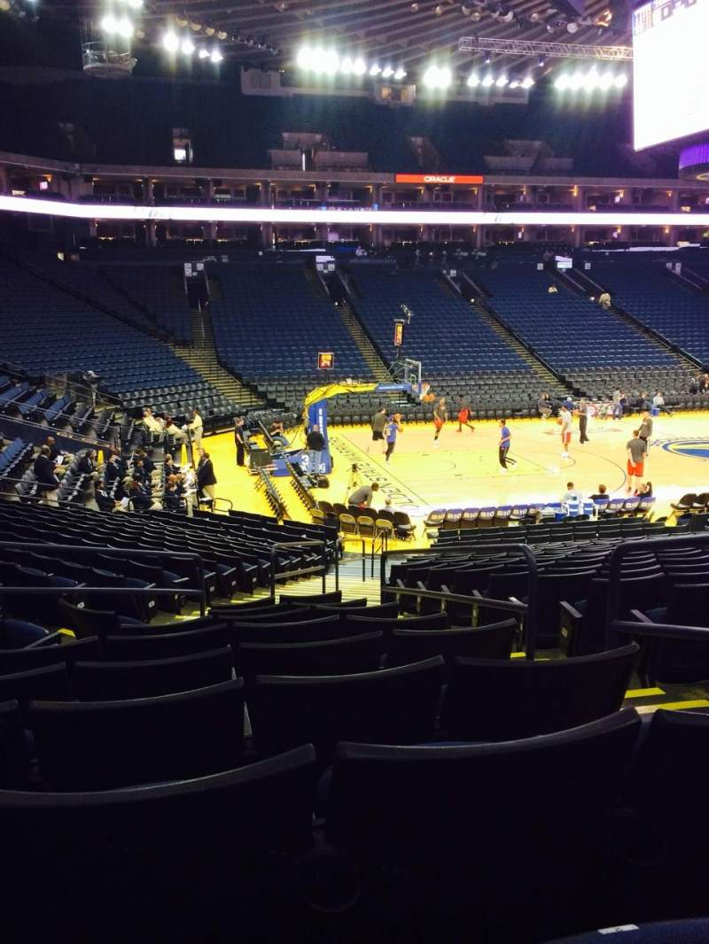 Seating view for Oracle Arena Section 103 Row 17 Seat 1
