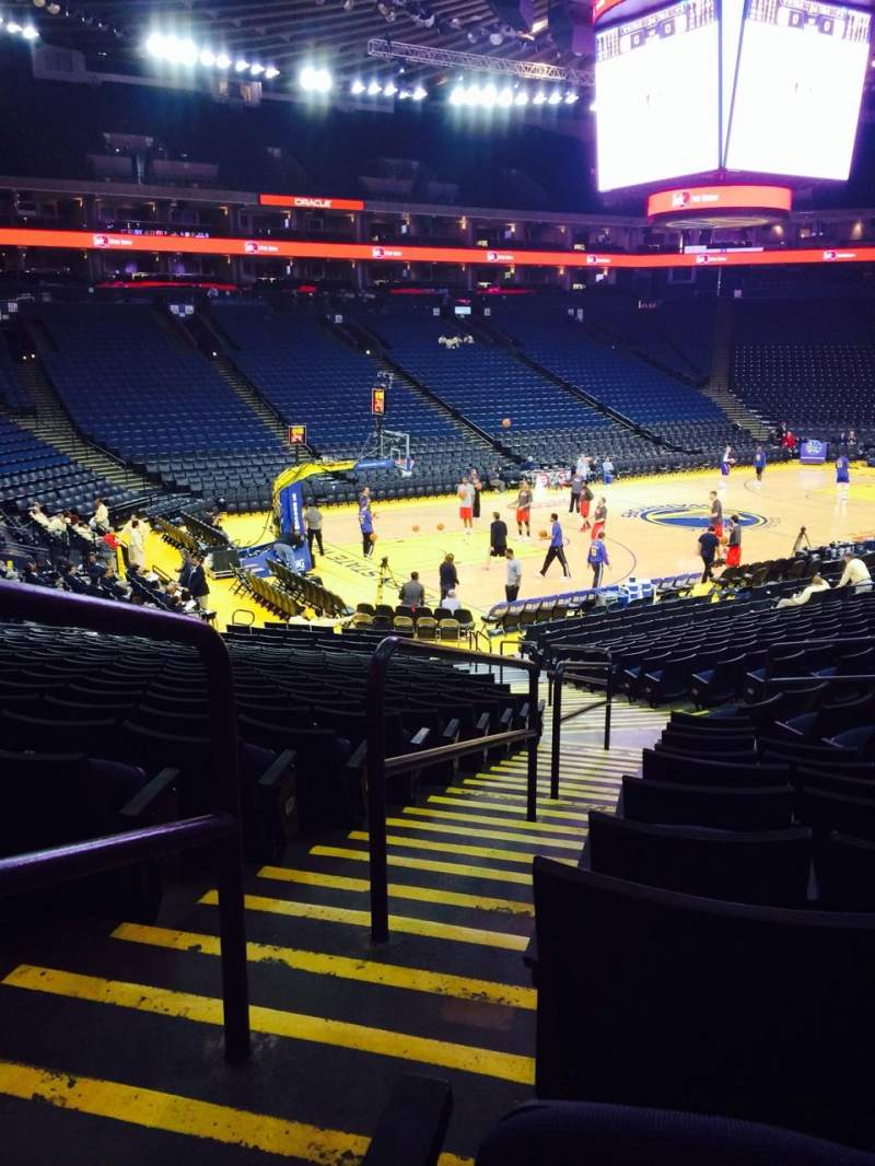 Seating view for Oracle Arena Section 104 Row 10 Seat 7