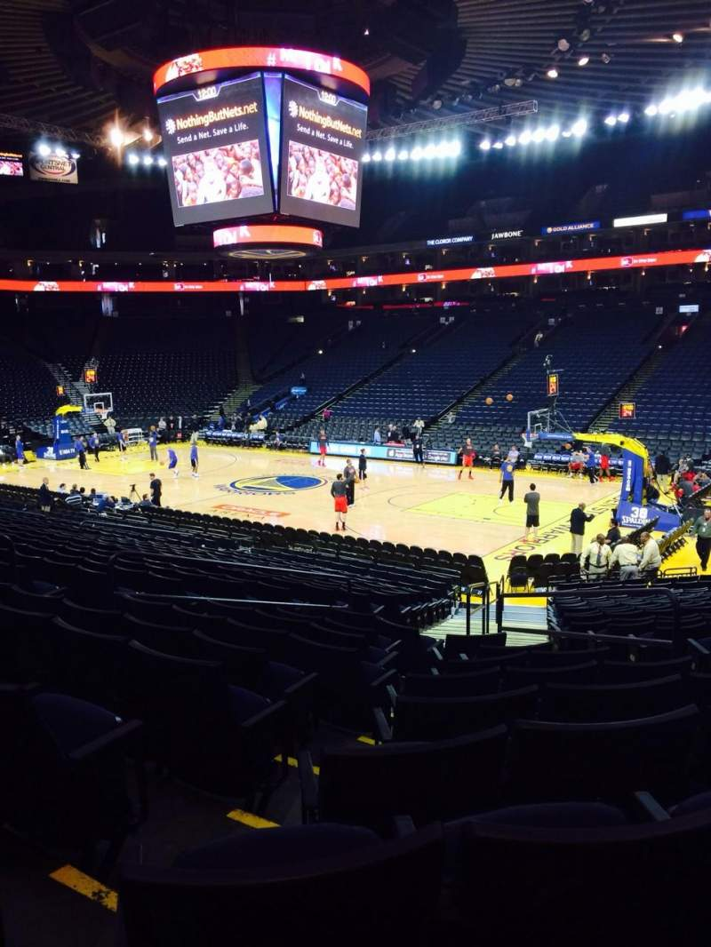 Seating view for Oracle Arena Section 111 Row 18 Seat 3