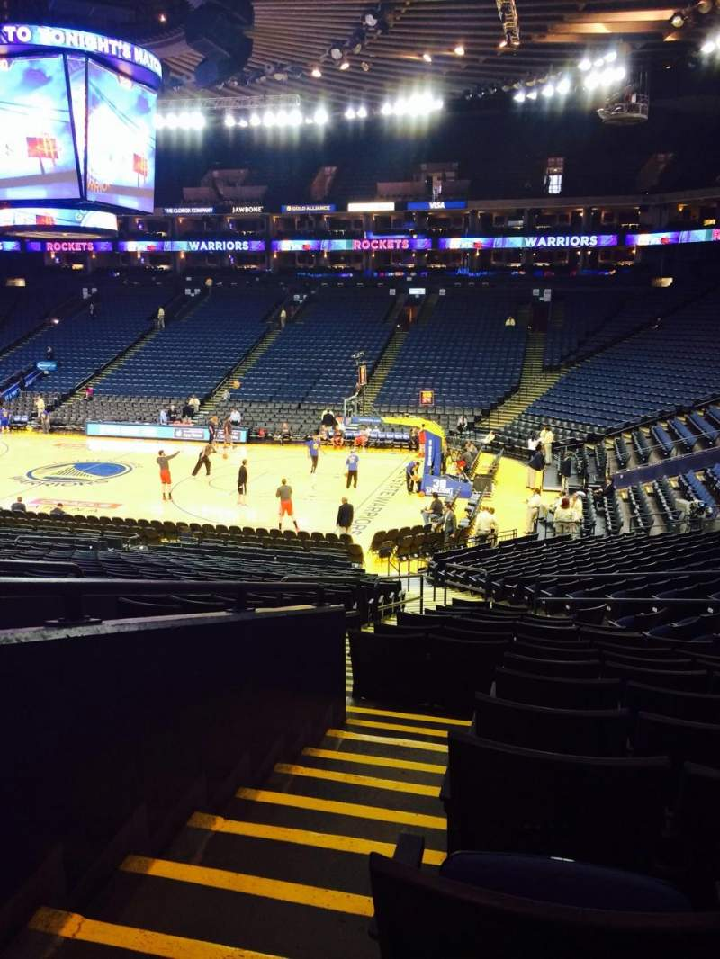 Seating view for Oracle Arena Section 112 Row 23 Seat 8