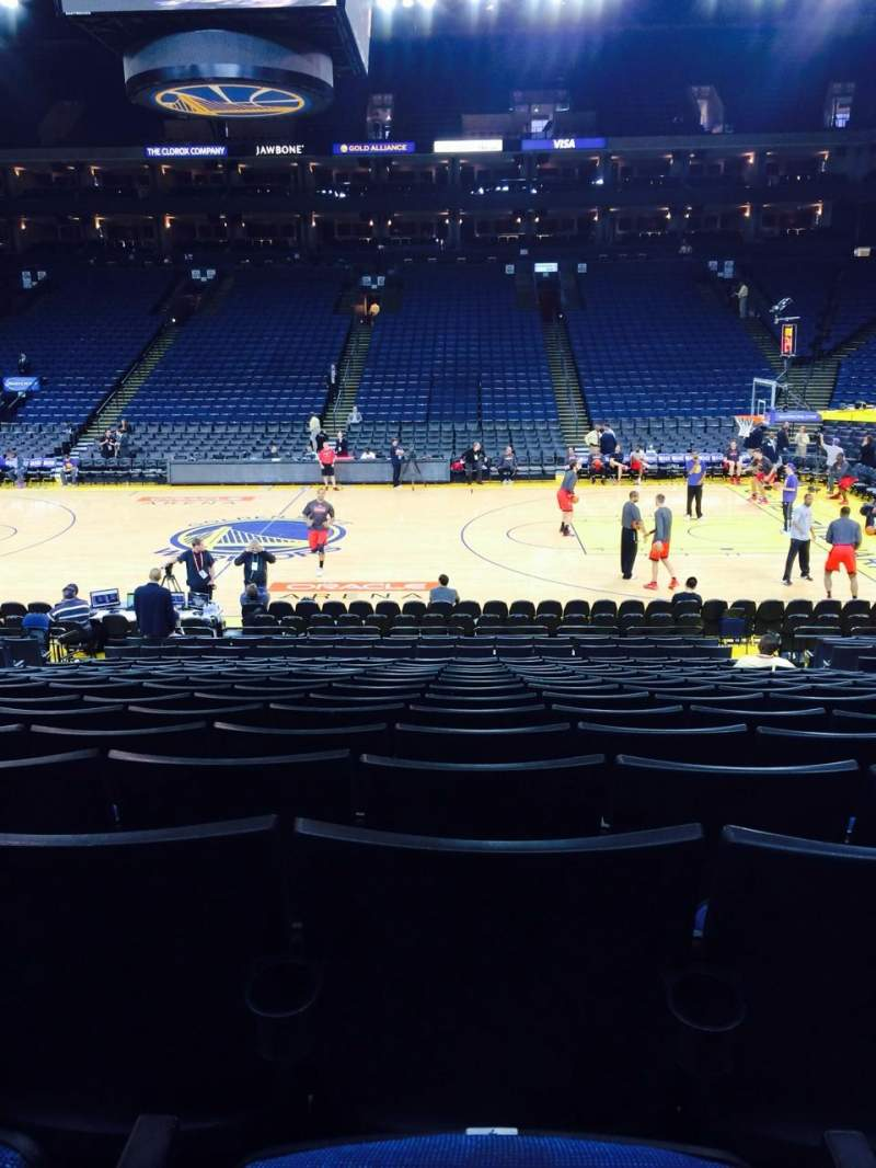 Seating view for Oracle Arena Section 114 Row 13 Seat 7