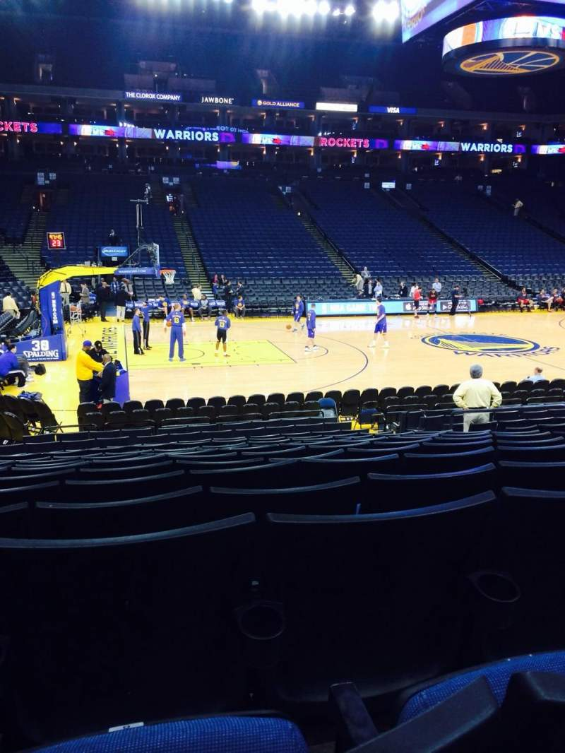 Seating view for Oracle Arena Section 116 Row 10 Seat 8