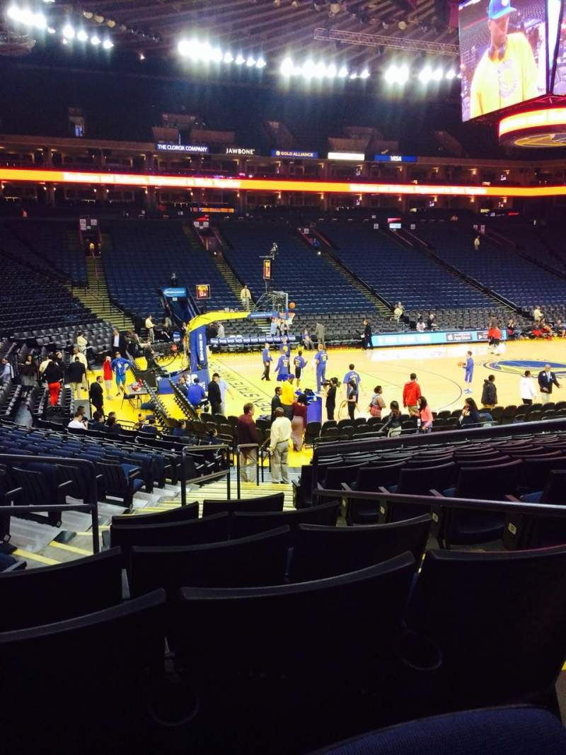 Seating view for Oracle Arena Section 117 Row 14 Seat 3