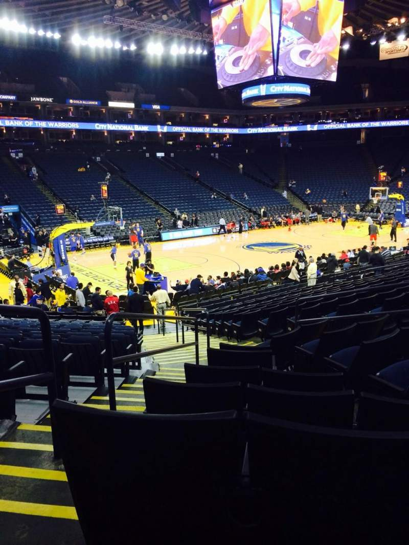 Seating view for Oracle Arena Section 118 Row 12 Seat 4