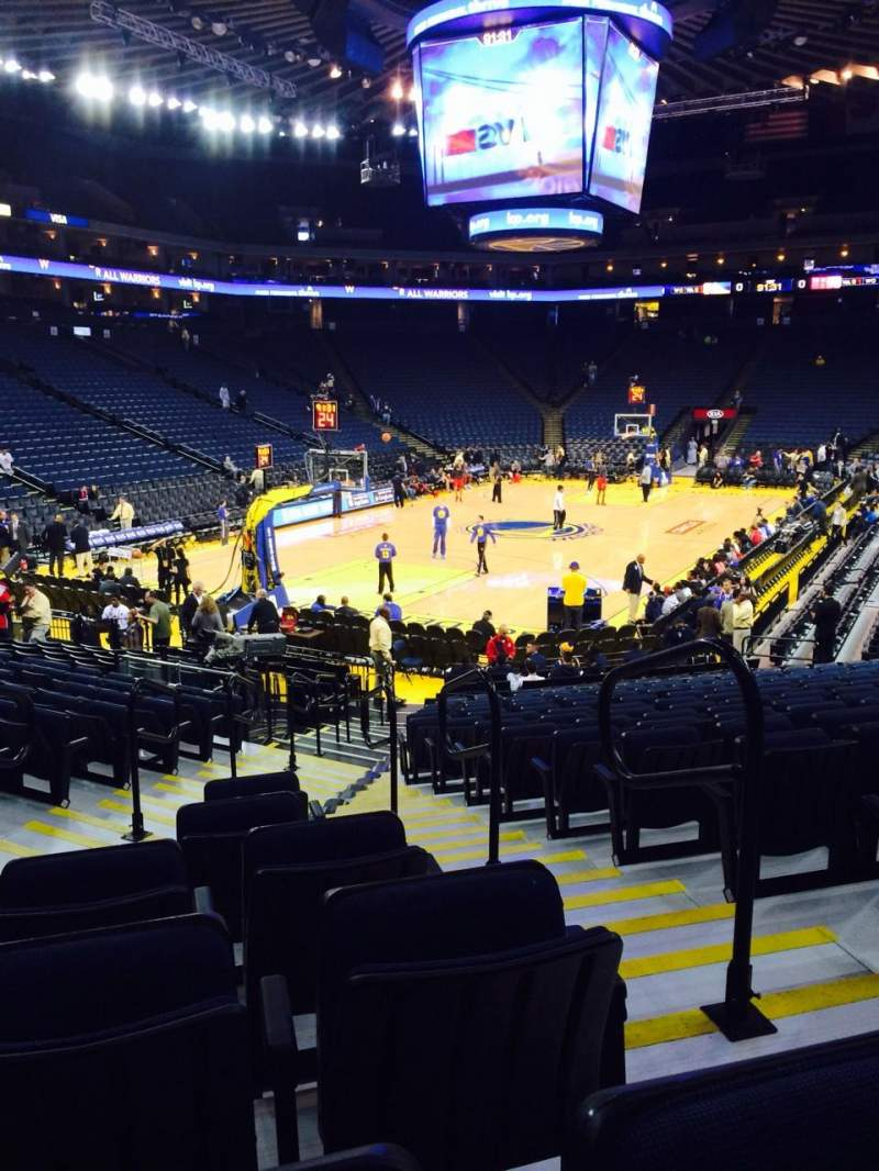 Seating view for Oracle Arena Section 120 Row 16 Seat 2