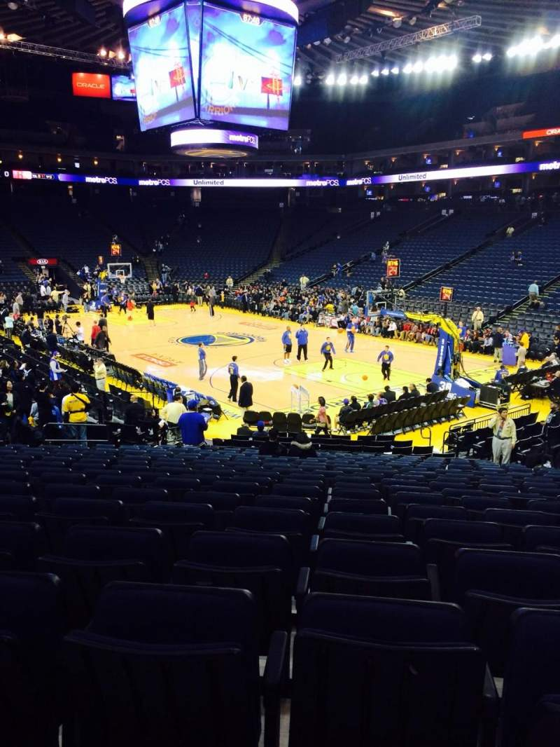 Seating view for Oracle Arena Section 125 Row 18 Seat 10