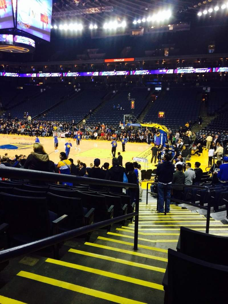 Seating view for Oracle Arena Section 126 Row 12 Seat 4