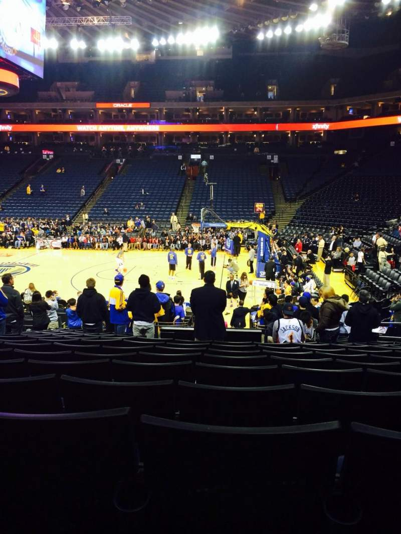 Seating view for Oracle Arena Section 127 Row 15 Seat 8