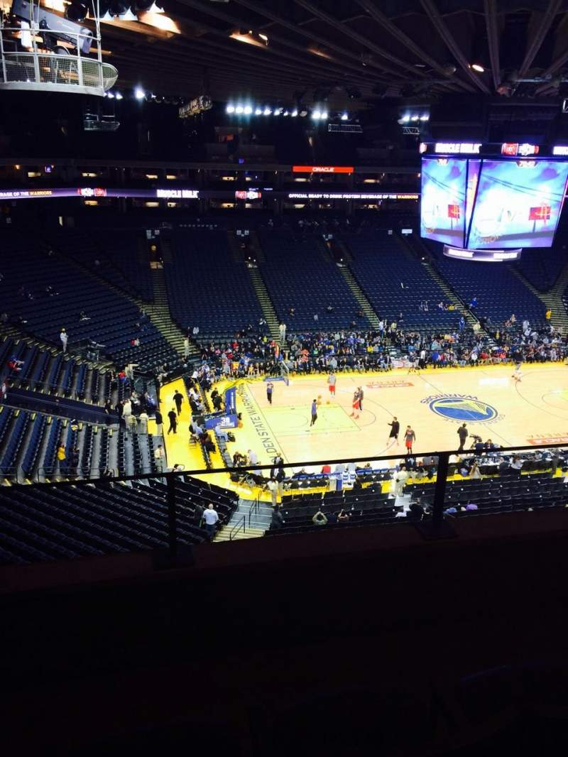Seating view for Oracle Arena Section 203 Row 3 Seat 3
