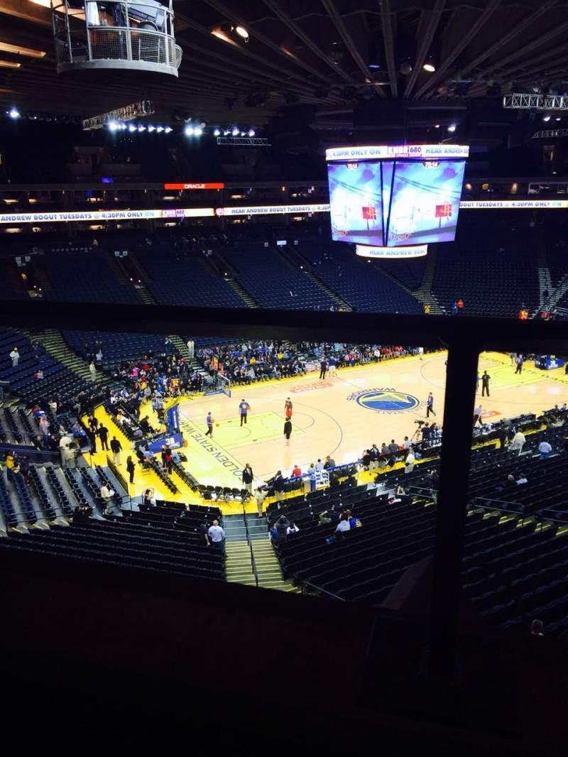 Seating view for Oracle Arena Section 204 Row 1 Seat 4