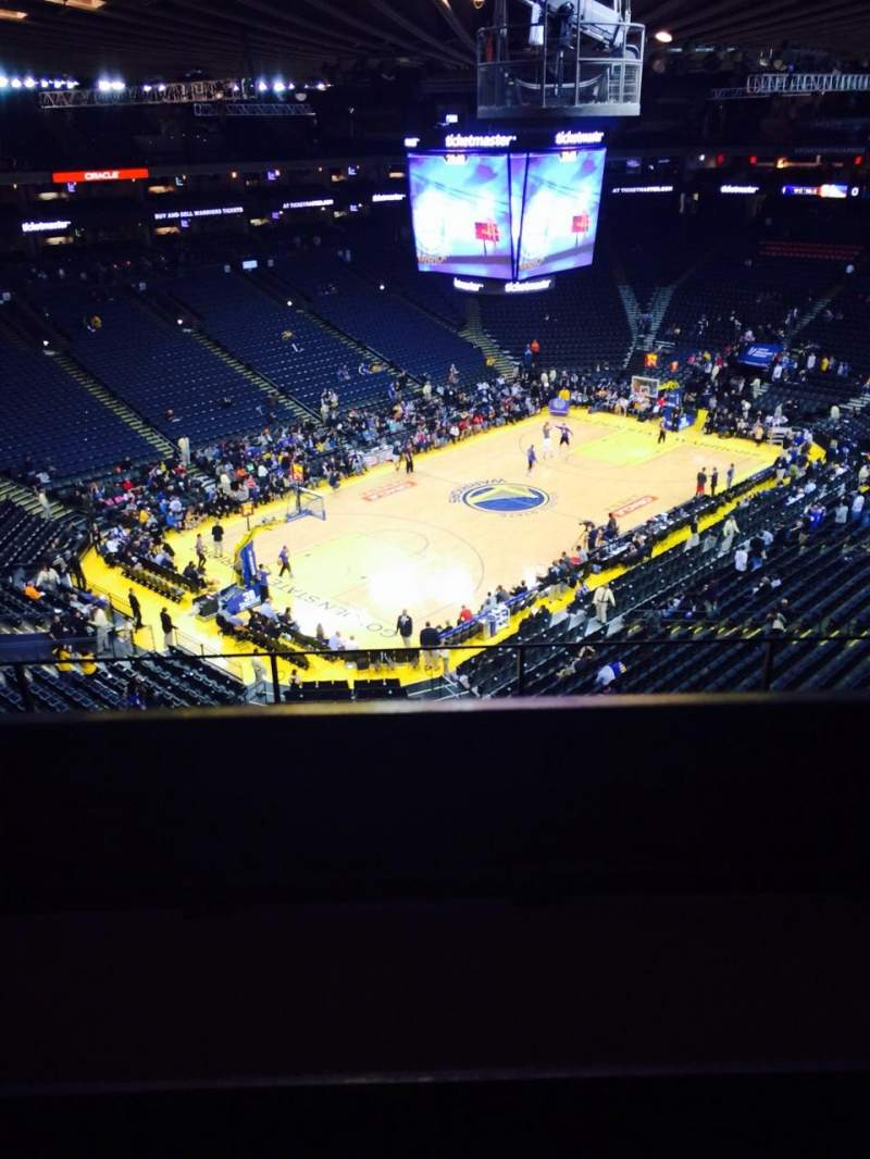 Seating view for Oracle Arena Section 205 Row 5 Seat 3